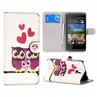 Etui HTC Desire 620 motif Couple de Chouette - Crazy Kase