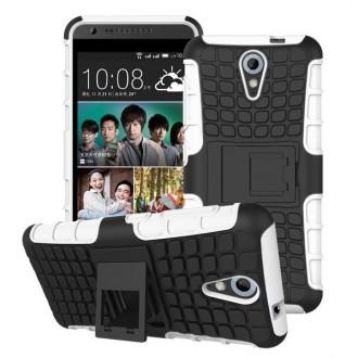 Coque HTC Desire Anti-choc Noire et Blanche - Crazy Kase