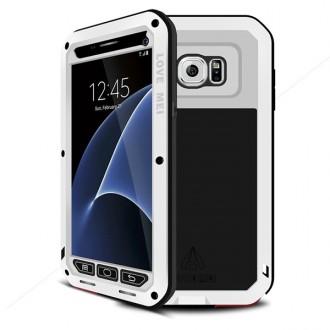 Coque Galaxy S7 Etanche Antichocs Aluminium Blanche - LOVE MEI