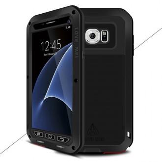 Coque Galaxy S7 Etanche Antichocs Aluminium Noire - LOVE MEI