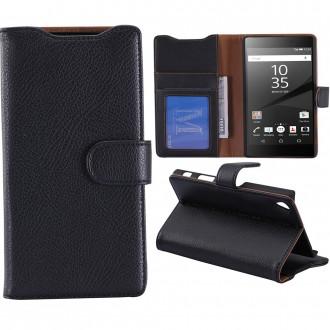 Etui Sony Xperia Z5 Premium Portecartes Noir - Crazy Kase