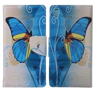 Etui Sony Xperia Z5 Premium motif Papillon Bleu et Jaune - Crazy Kase