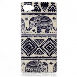 Coque Sony Xperia Z5 Compact motif Eléphant - Crazy Kase