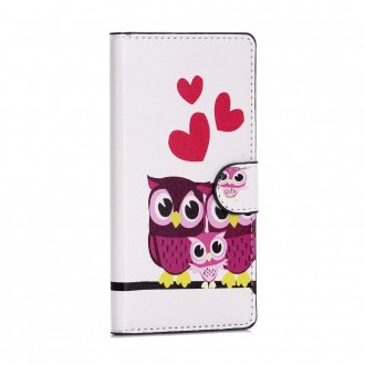 Etui Huawei P8 Lite motif Couple de Chouette - Crazy Kase