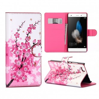 Etui Huawei P8 Lite motif Fleurs Japonaises - Crazy Kase