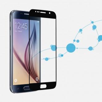 Film Galaxy S6 protection écran verre trempé contour noir