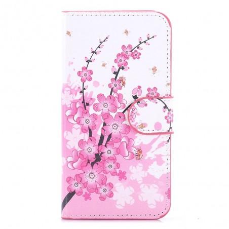 Etui Wiko Lenny 3 motif Fleurs Japonaises - Crazy Kase