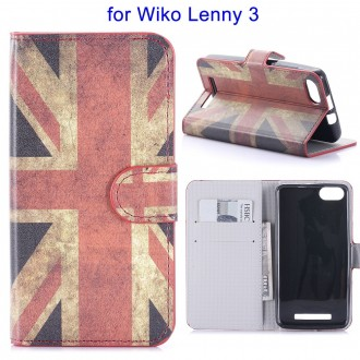Etui Wiko Lenny 3 motif Drapeau UK - Crazy Kase