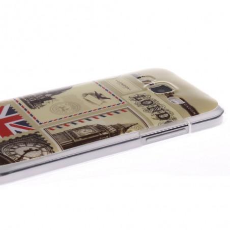 Coque Galaxy Core Prime motif Monuments de Londre Silicone - Crazy Kase
