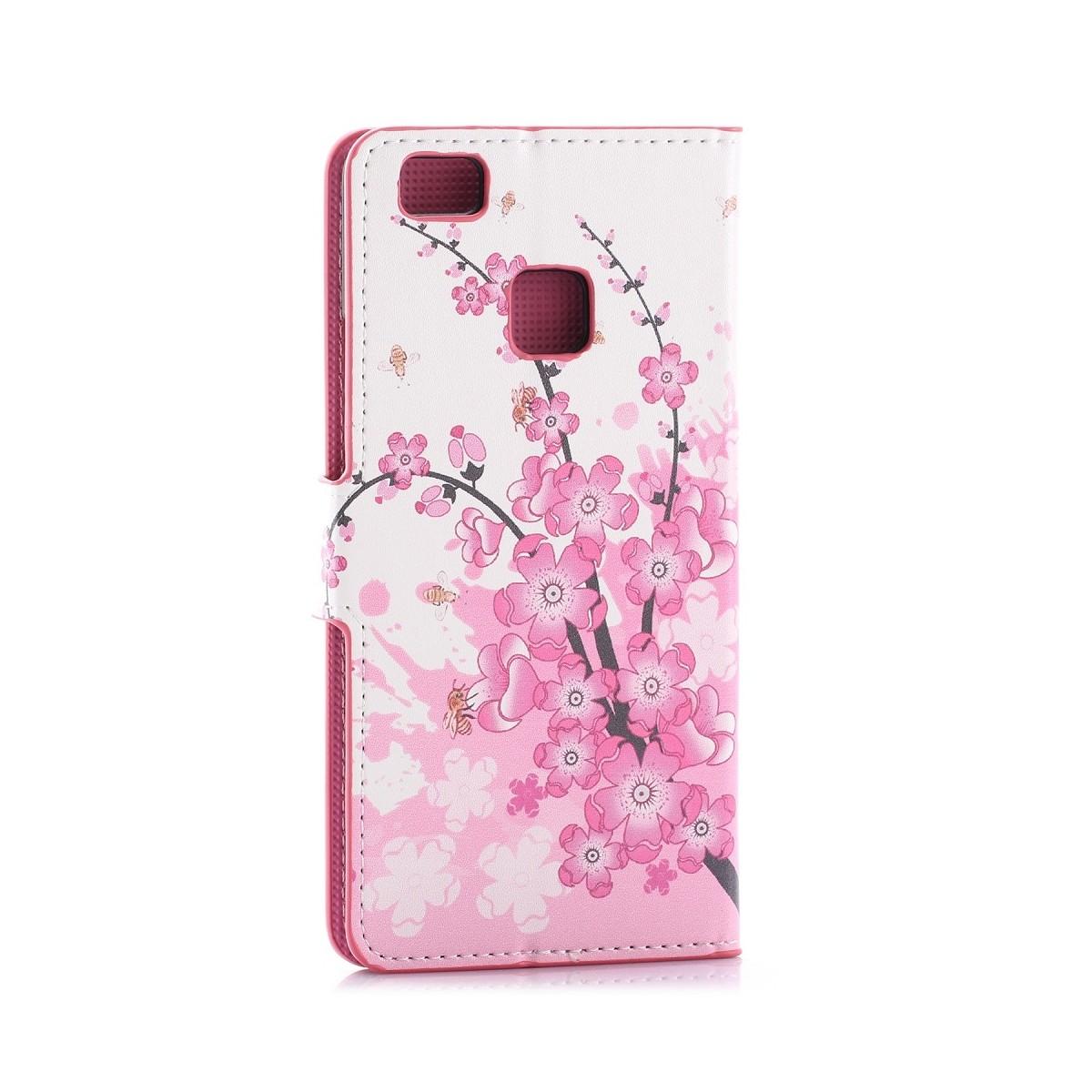 Etui Huawei P9 Lite motif Fleurs Japonaises - Crazy Kase
