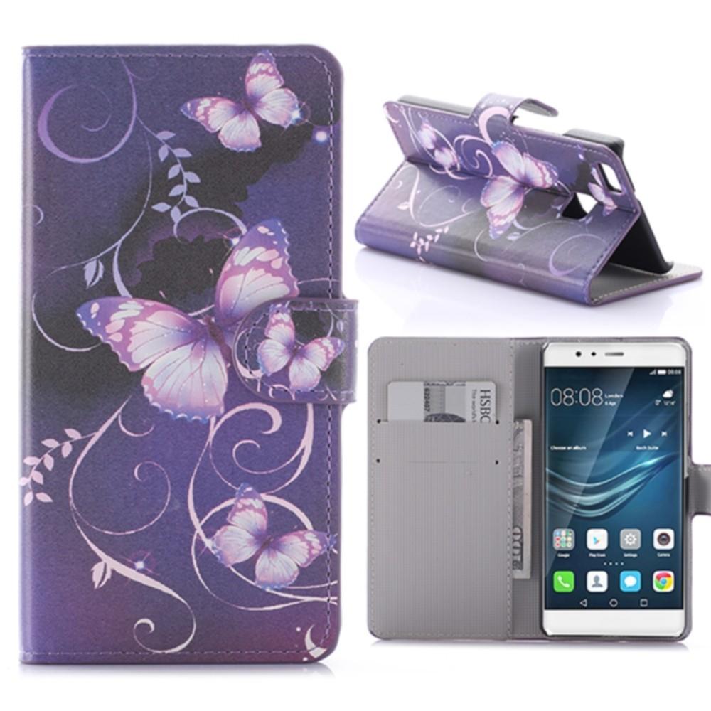 Etui Huawei P9 Lite motif Papillons Violets - Crazy Kase