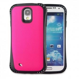 Coque Galaxy S5 bi-matière noire et rose