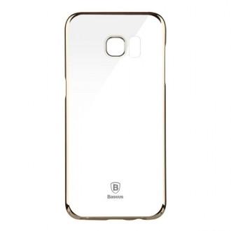 Coque Galaxy S7 Edge Transparente contour Doré - Baseus