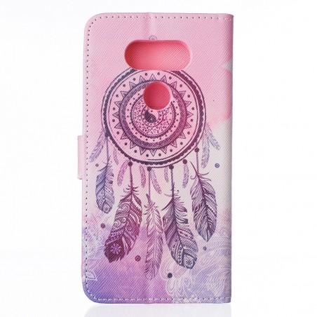Etui LG G5 motif Attrape Rêves Rose et Violet - Crazy Kase