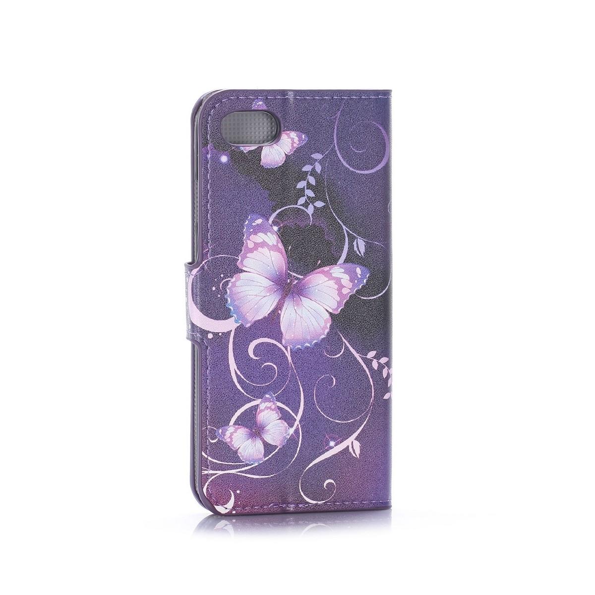 Etui iPhone 7 motif Papillons Violets - Crazy Kase