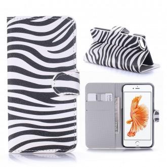 Etui iPhone 7 motif Zébré Noir et Blanc - Crazy Kase