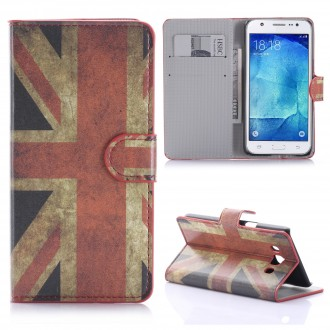 Etui Galaxy J5 (2016) motif Drapeau UK - Crazy Kase