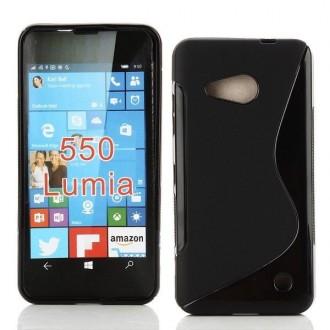 Coque Microsoft Lumia 550 Plastique souple Noir - Crazy Kase