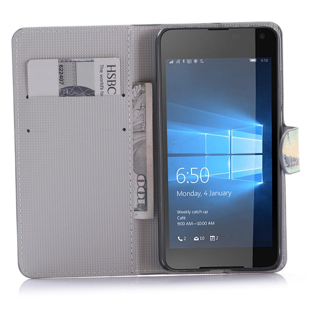 Etui Microsoft Lumia 650 motif Plage, île et palmiers avec Ancre - Crazy Kase