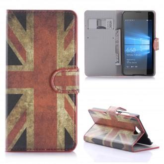 Etui Microsoft Lumia 650 motif Drapeau Royaume Uni - Crazy Kase