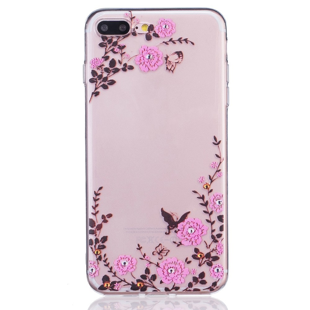 coque iphone 7 fleur transparent