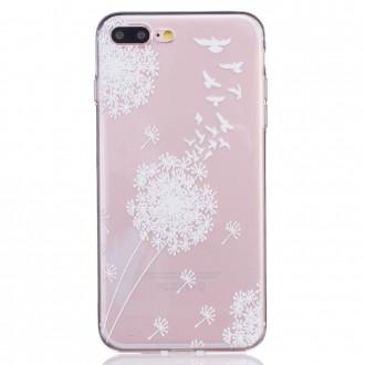 Coque iPhone 7 Plus Transparente motif Fleurs Blanches - Crazy Kase