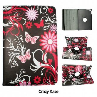 Etui iPad Mini 4 rotatif 360° motif Papillons et Fleurs - Crazy Kase