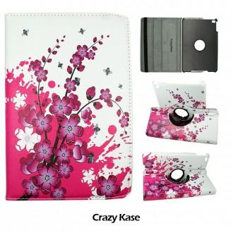 Etui iPad Mini 4 rotatif 360° motif fleurs japonaises - Crazy Kase