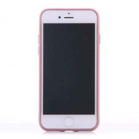 Coque iPhone 7 Transparente contour Rose - G-Case