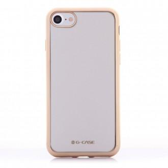 Coque iPhone 7 Transparente contour Doré - G-Case