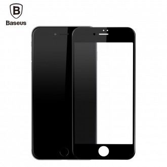 Film iPhone 7 protection écran verre trempé contour Noir - Baseus