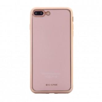 Coque iPhone 7 Plus Transparente contour Doré - G-Case