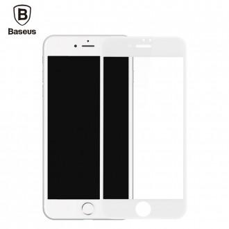Film iPhone 7 Plus protection écran verre trempé contour Blanc - Baseus