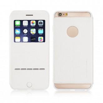 Etui iPhone 6 / 6S Blanc avec fenêtre - G-Case