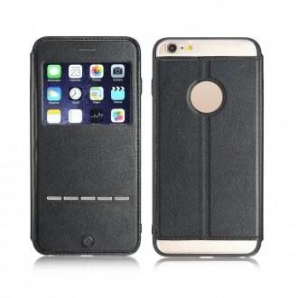 Etui iPhone 6 Plus / 6S Plus Noir avec fenêtre - G-Case