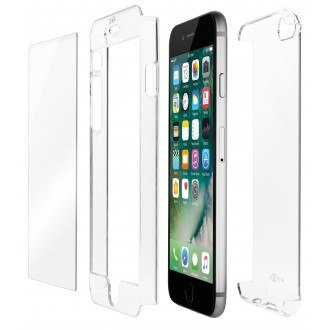 Coque iPhone 8 Plus/7 Plus Transparente Protection 360° - Qdos