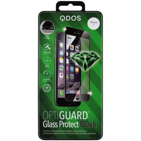 Film iPhone 7 protection écran verre trempé contour Noir - Qdos