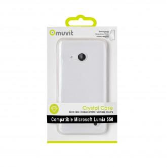 Coque Microsoft Lumia 550 Transparente rigide et Film protecteur - Muvit