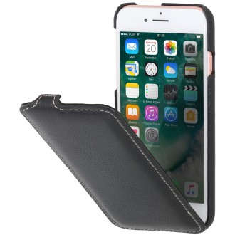 Etui iPhone 7 ultraslim noir en cuir véritable - Stilgut