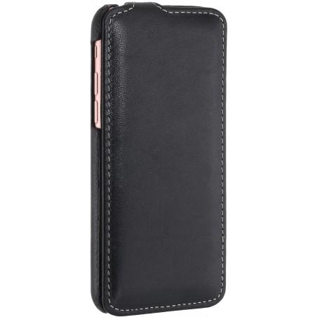 Etui iPhone 7 ultraslim noir nappa en cuir véritable - Stilgut