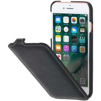 Etui iPhone 7 ultraslim noir nappa en cuir véritable - Stilgut