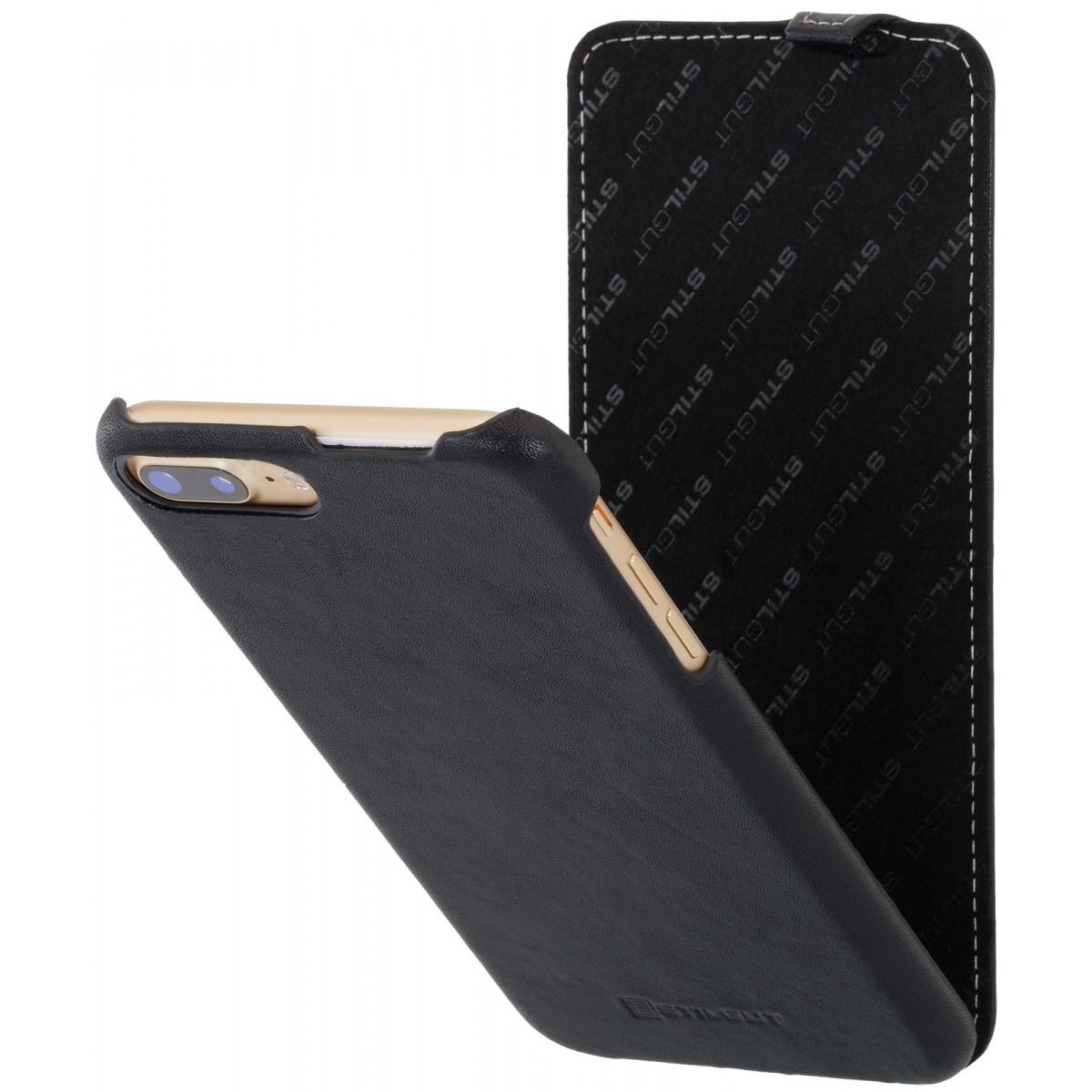 Etui iPhone 7 Plus nappa ultraslim noir nappa en cuir véritable - Stilgut