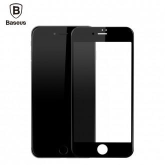 Film iPhone 7 Plus protection écran verre trempé contour Noir - Baseus