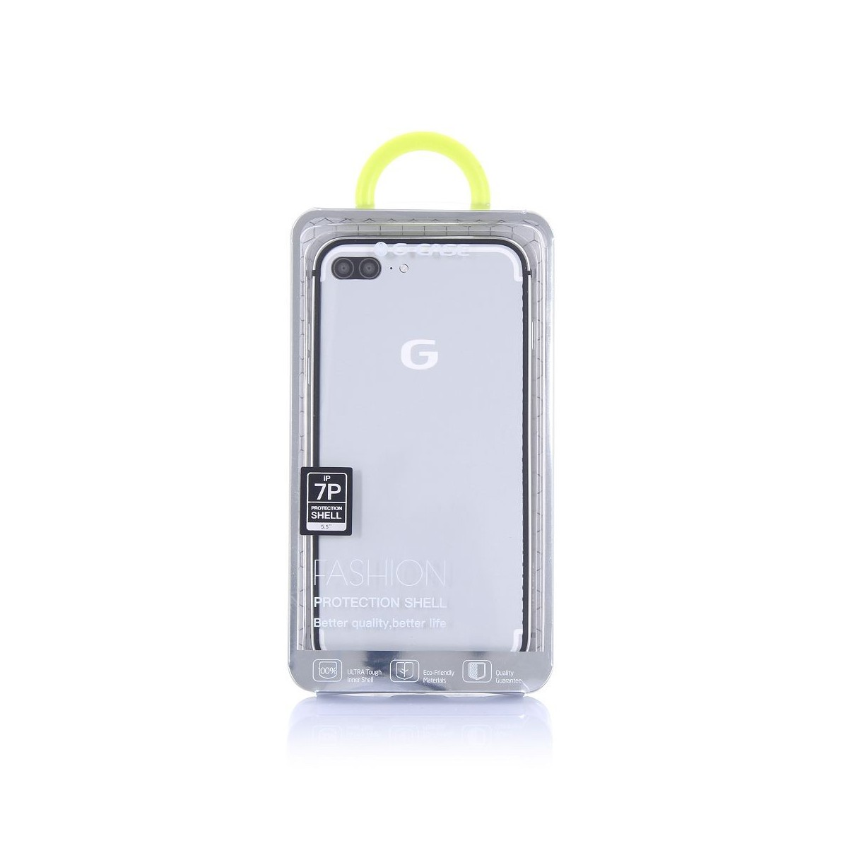 Bumper Bi-matière iPhone 7 contour Blanc et doré - G-Case