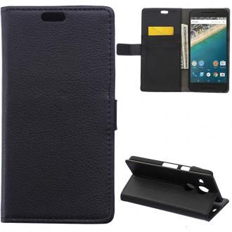 Etui LG Google Nexus 5X portecartes Noir- Crazy Kase