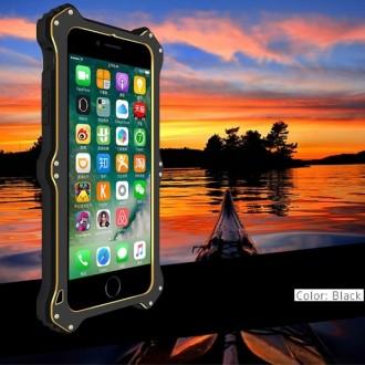 Coque Antichoc iPhone 7 Bi-matère Noire - LOVE MEI
