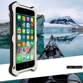 Coque Antichoc iPhone 7 Bi-matère Argent et Noire - LOVE MEI