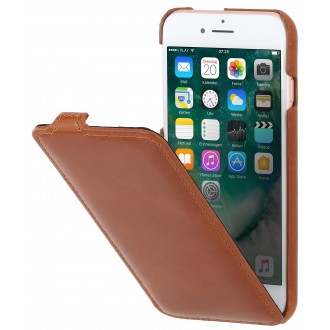 Etui iPhone 7 ultraslim cognac en cuir véritable - Stilgut