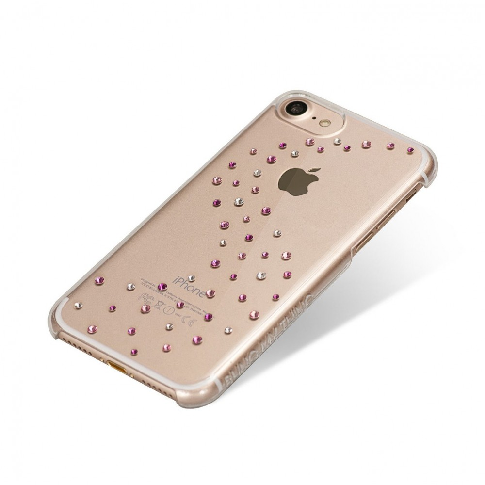 Coque iPhone 7 Milky Way Rose Sparkles Strass Cristal et Rose Swarovski - Bling My Thing