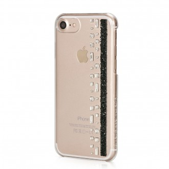 Coque iPhone 7 Hermitage Jet Strass Cristal et Noir Swarovski - Bling My Thing